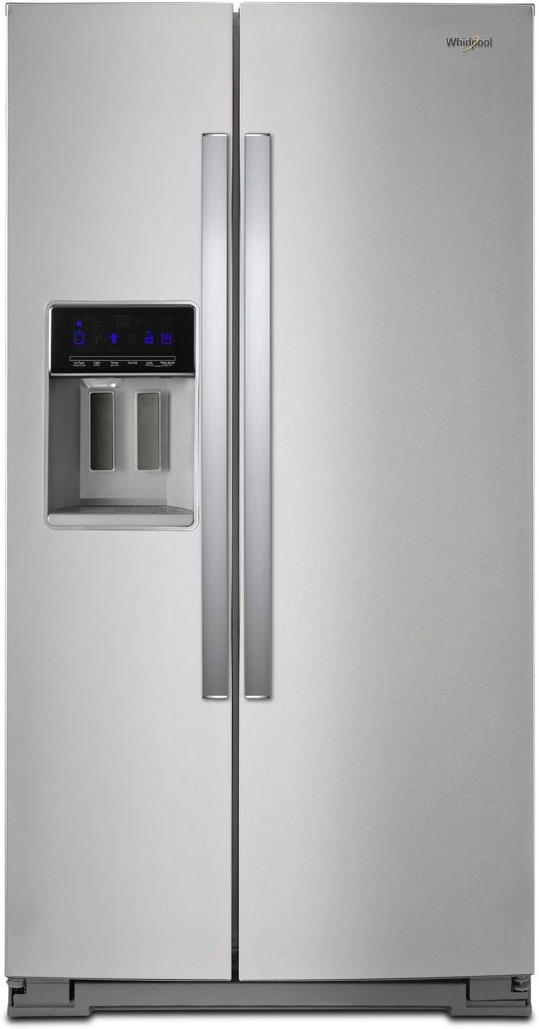 Whirlpool Stainless Steel Counter-Depth Side-by-Side Refrigerator (21 Cu. Ft.) - WRS571CIHZ