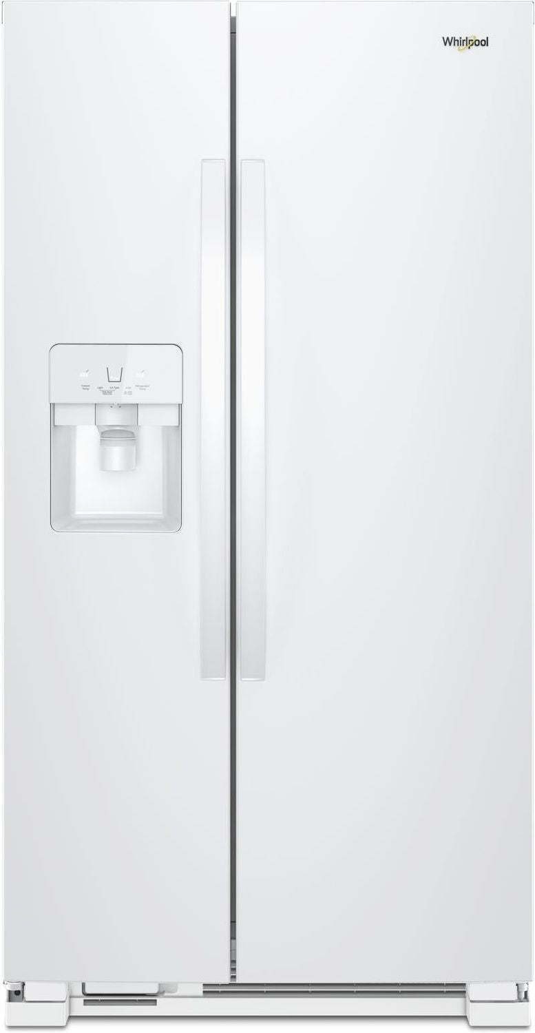 Whirlpool White Side-by-Side Refrigerator (25 Cu. Ft.) - WRS325SDHW