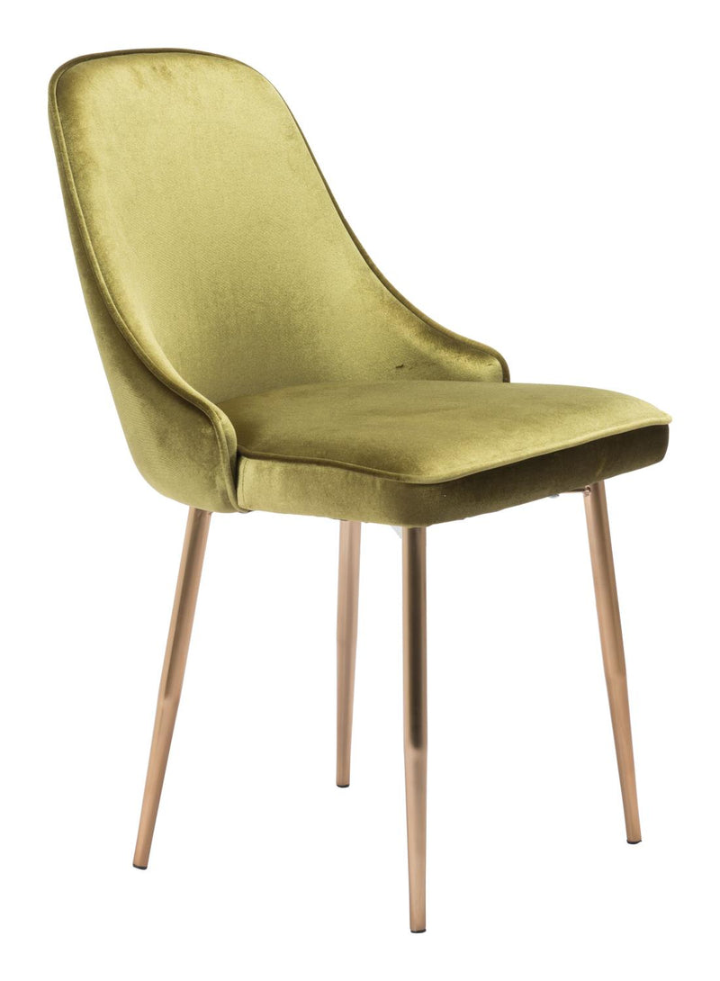 Awe Dining Chair - Green Velvet