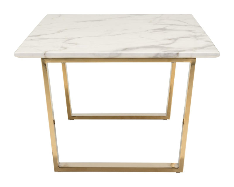 Nezahual Coffee Table - Stone/Gold