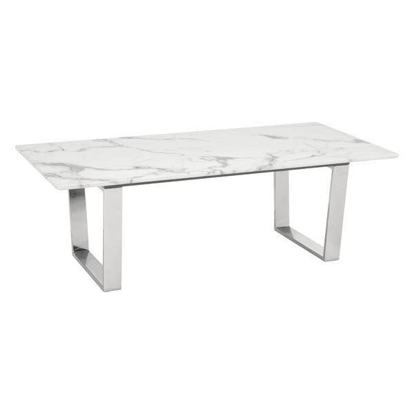 Nezahual Coffee Table Stone- Stainless Steel