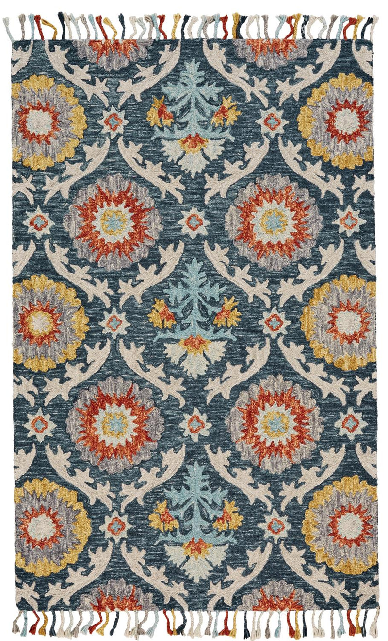 Antonina 5' x 8' - Blue Ocean Area Rug