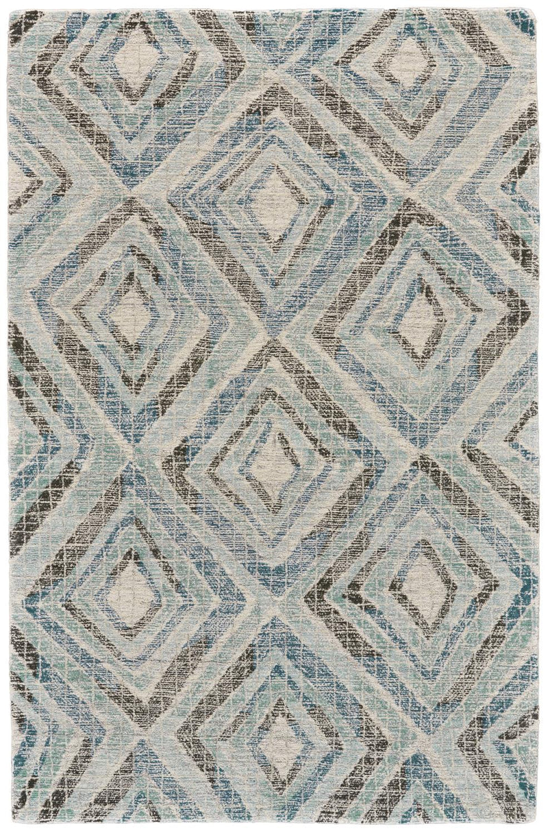 Mozza 5' x 8' - Blue Area Rug