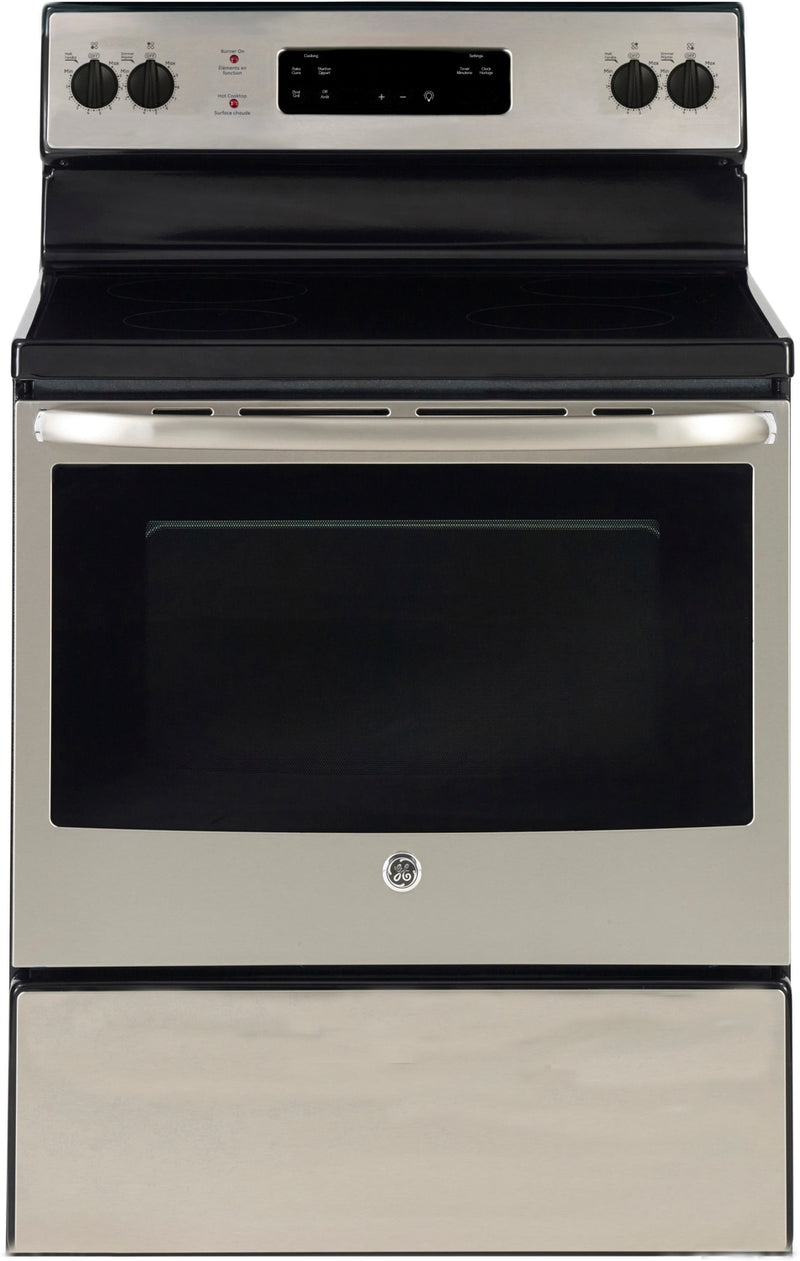 GE Stainless Steel Freestanding Electric Range (5.0 Cu. Ft.) - JCBS630SKSS