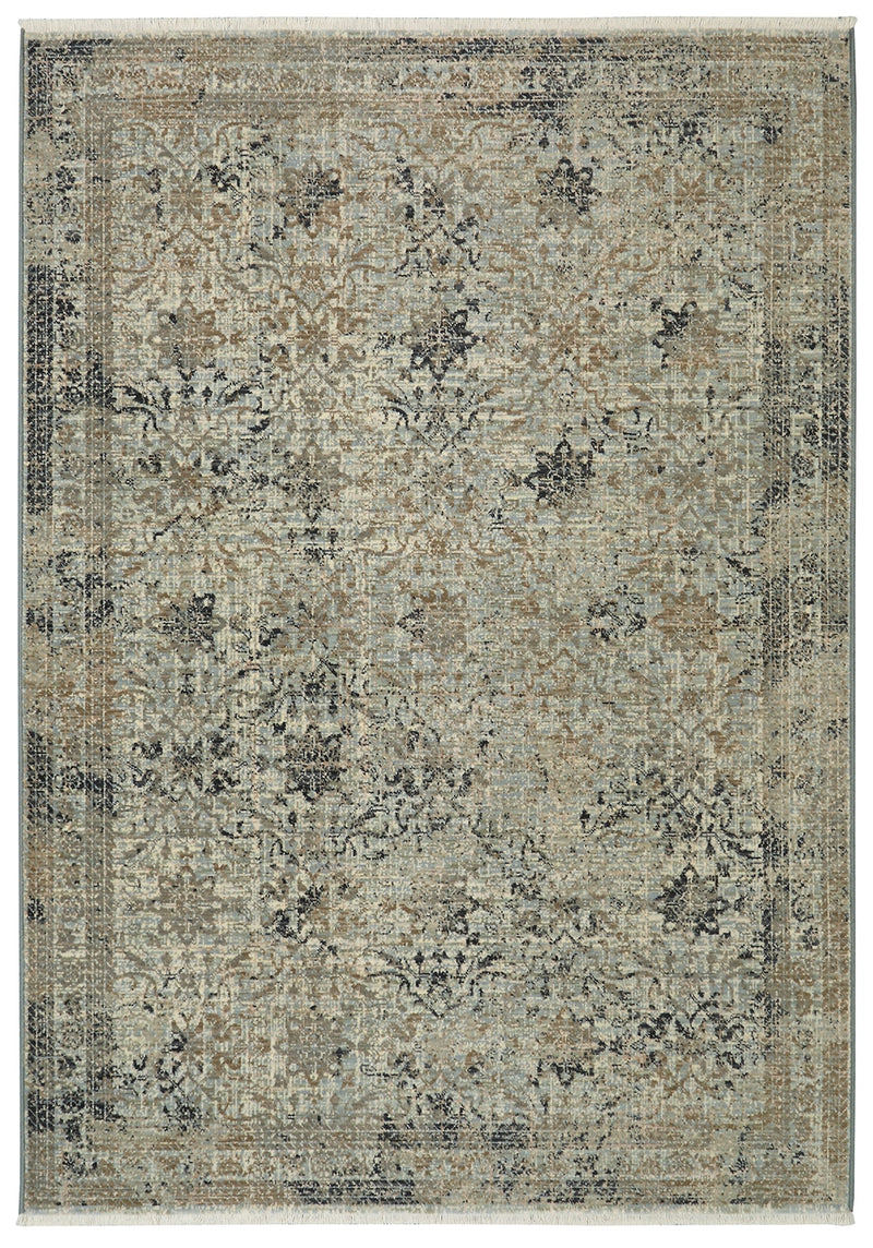 "Toucey - II 9'4"" X 12' 9"" - Cream, Blue, Grey Area Rug"