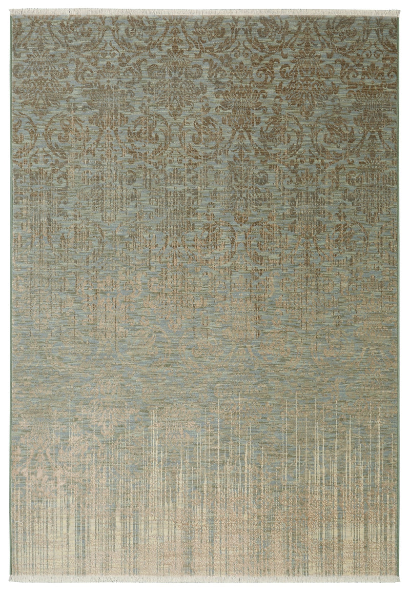 "Toucey - V 9'4"" X 12' 9"" - Seaglass, Ivory Area Rug"