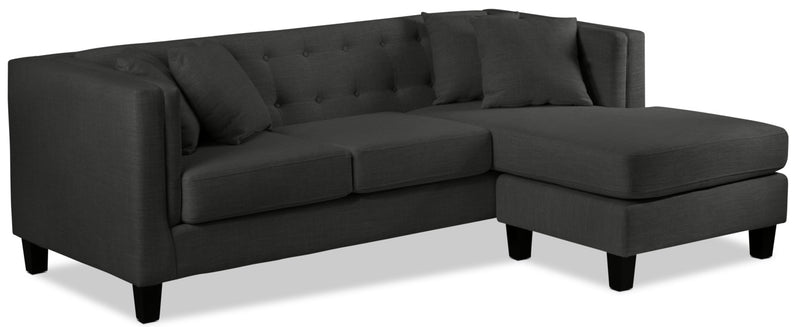 Arbor Chaise Sofa - Dark Grey