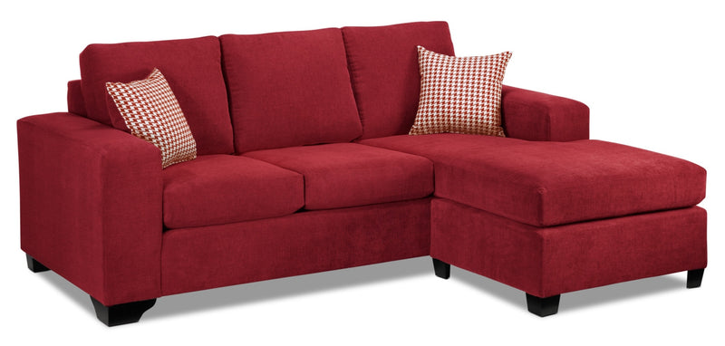 knox chaise sofa red