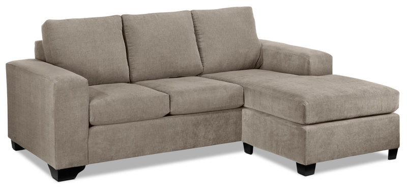 Knox Chaise Sofa - Pewter