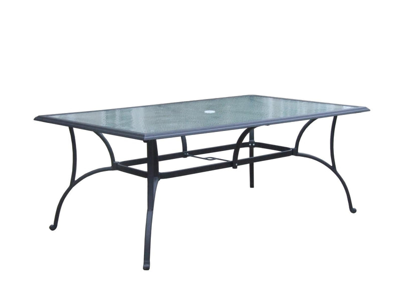 "Auxerre 72""X42"" Rectangular Glass Top Dining Table"