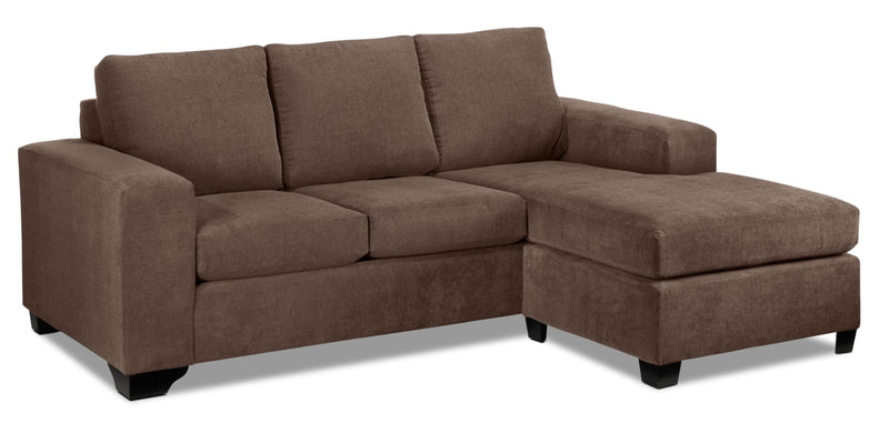 Knox Chaise Sofa - Light Brown
