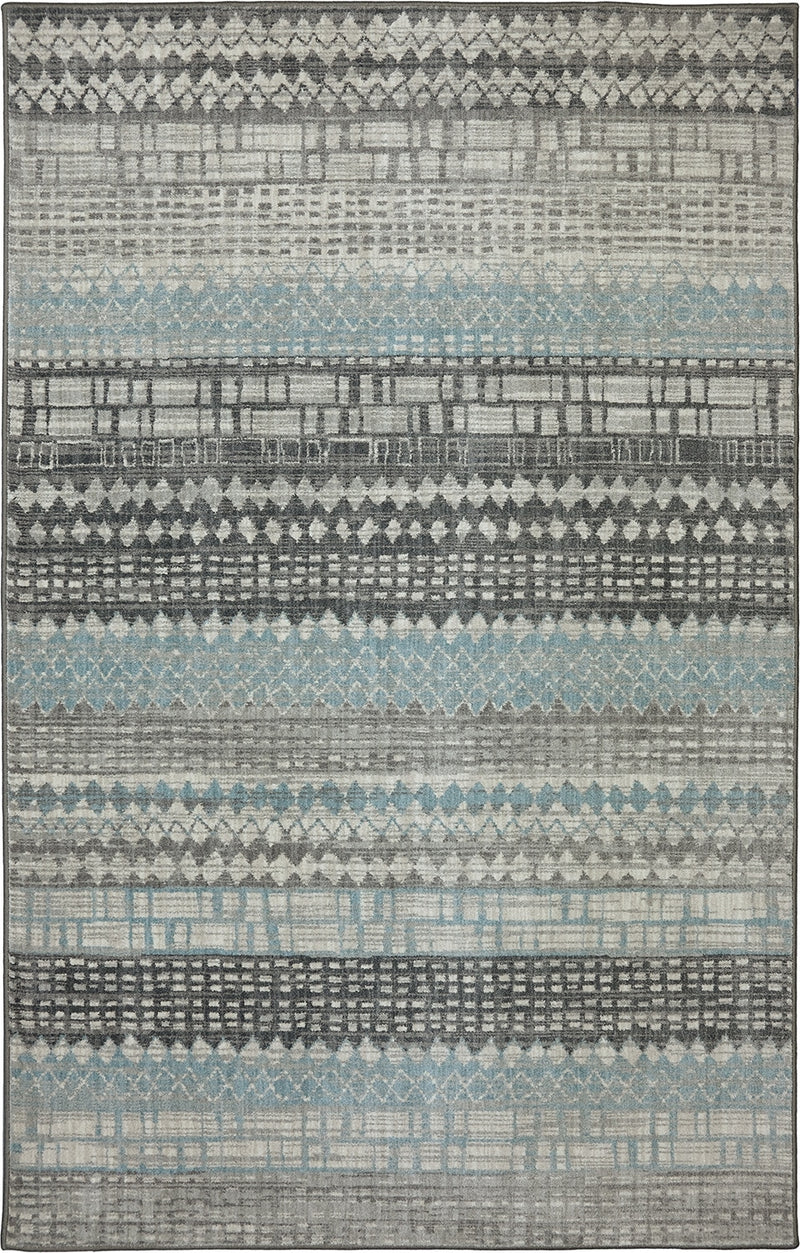 "Tabari - V 6'6"" X 9'6"" - Cream, Grey Area Rug"