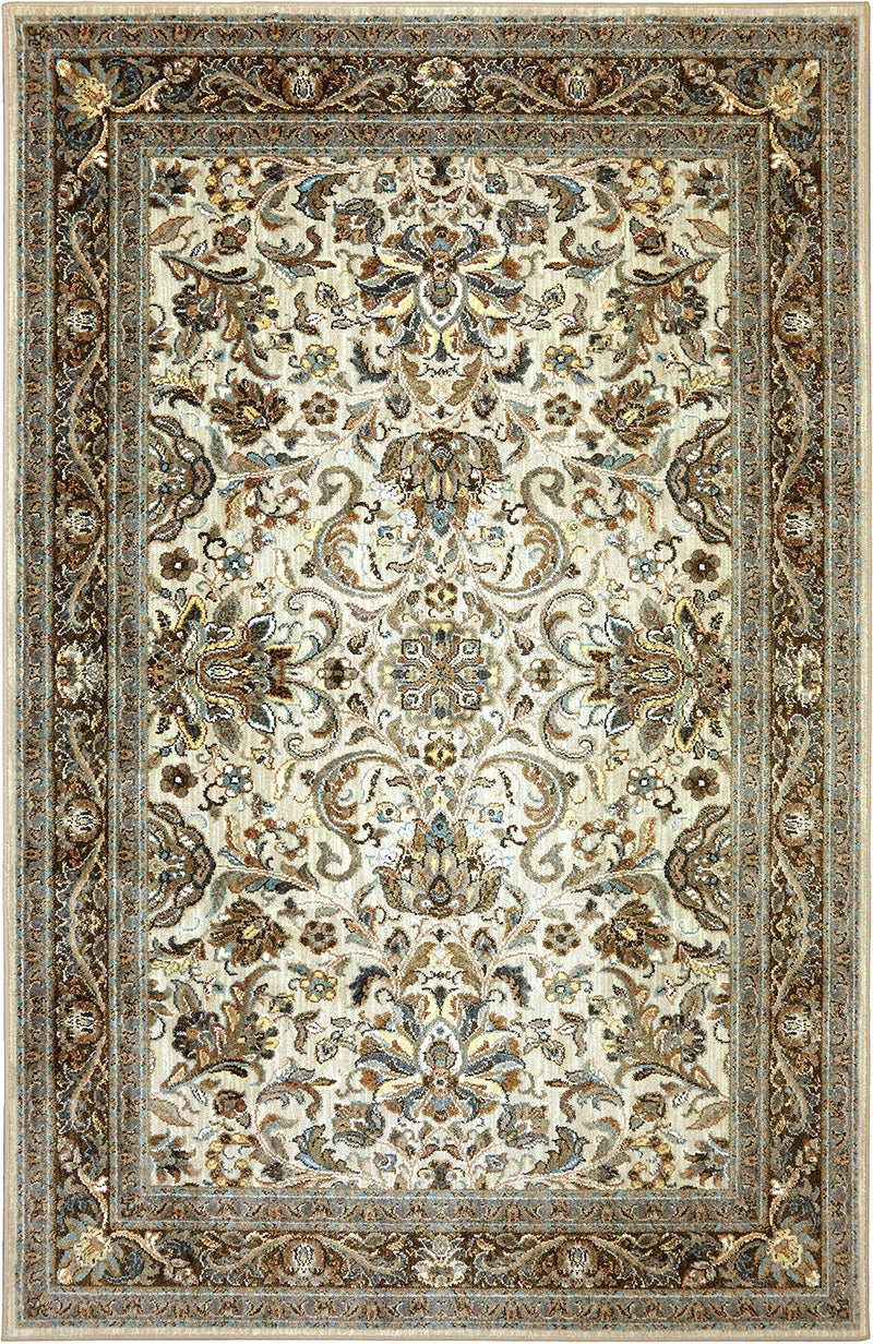 "Tabari - VIII 9'6"" X 12'11"" - Cream, Dark Brown Area Rug"