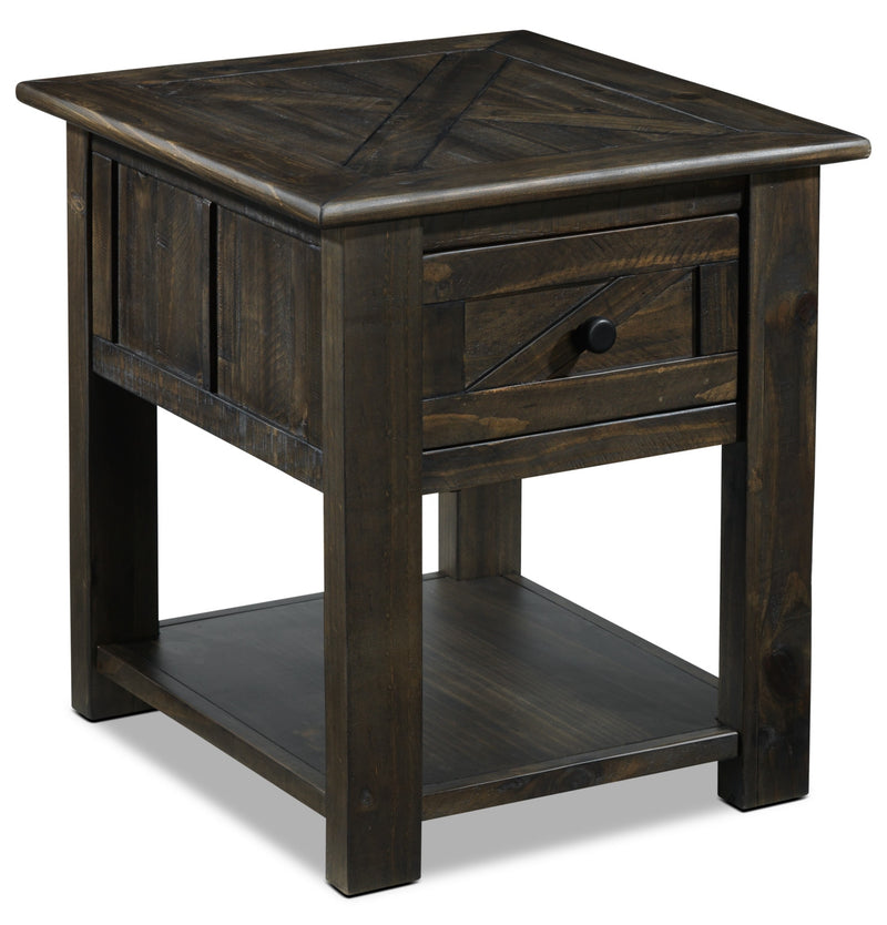 Francis End Table - Weathered Charcoal