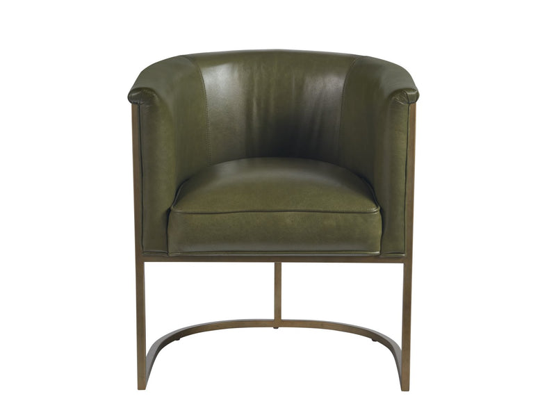 Naurstad Leather Accent Chair - Green