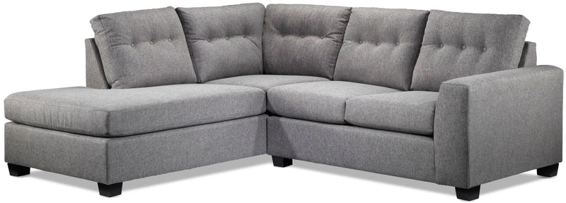 Laval 2-Piece Sectional with Left-Facing Chaise - Grey