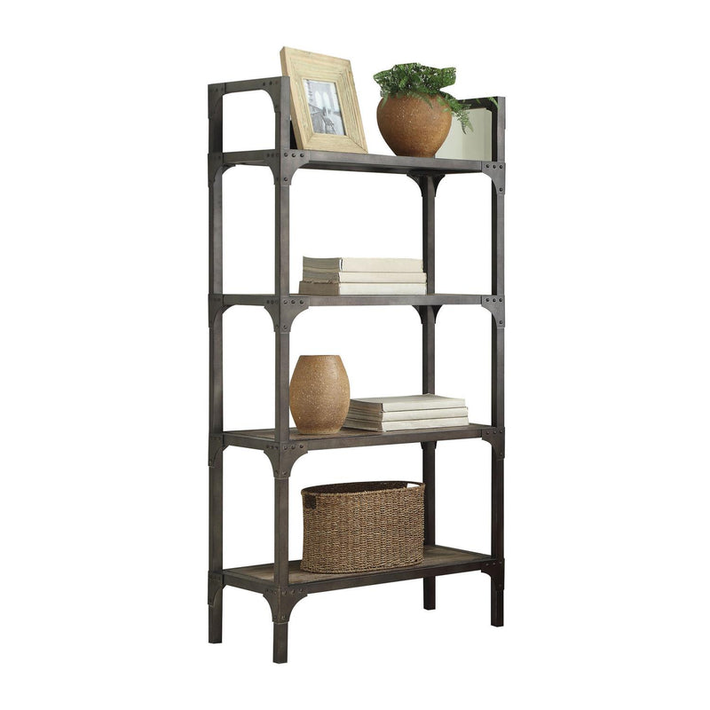 Flater Bookshelf - Weathered Oak