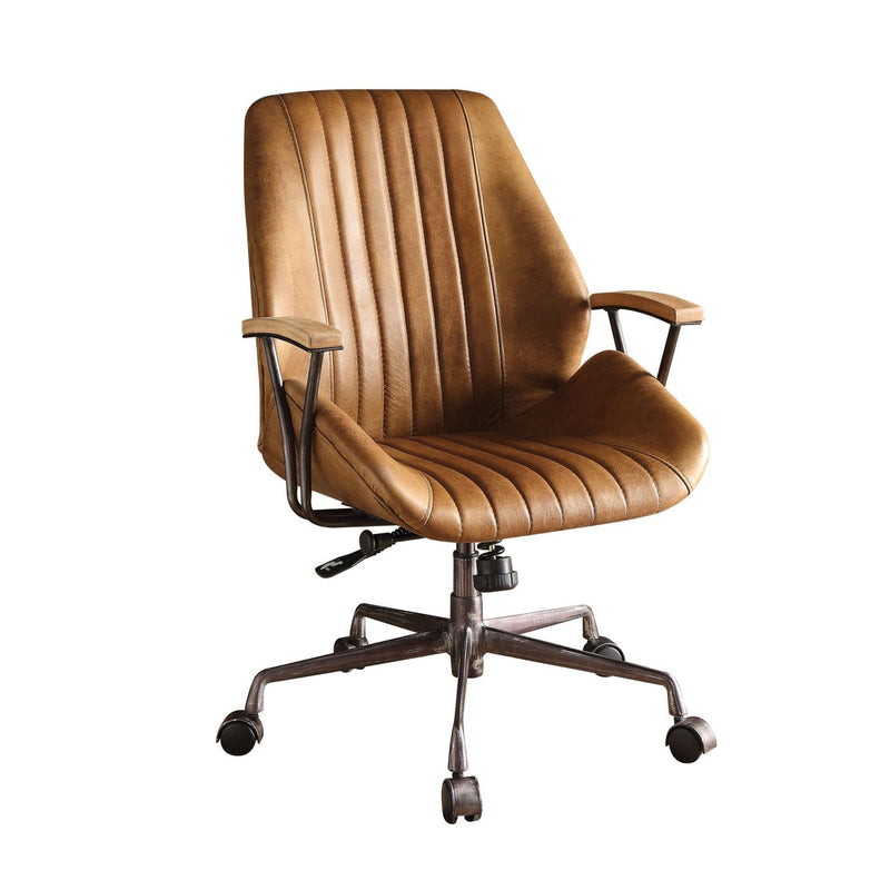 Buo Leather Executive Office Chair - Coffee