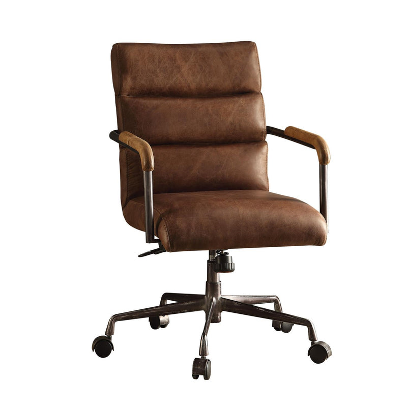 Buo Leather Executive Office Chair - Retro Brown