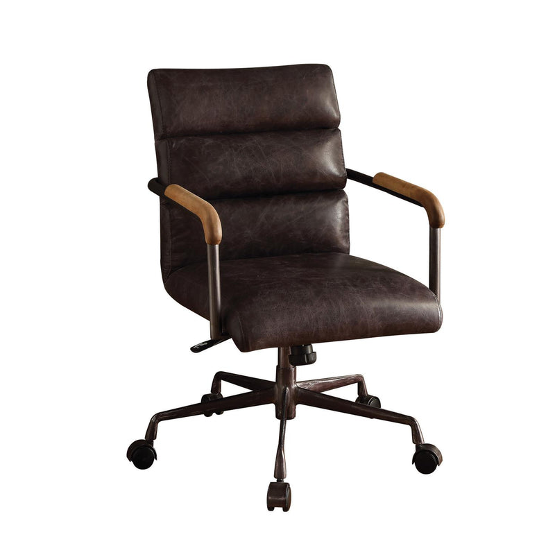 Buo Leather Executive Office Chair - Antique Ebony