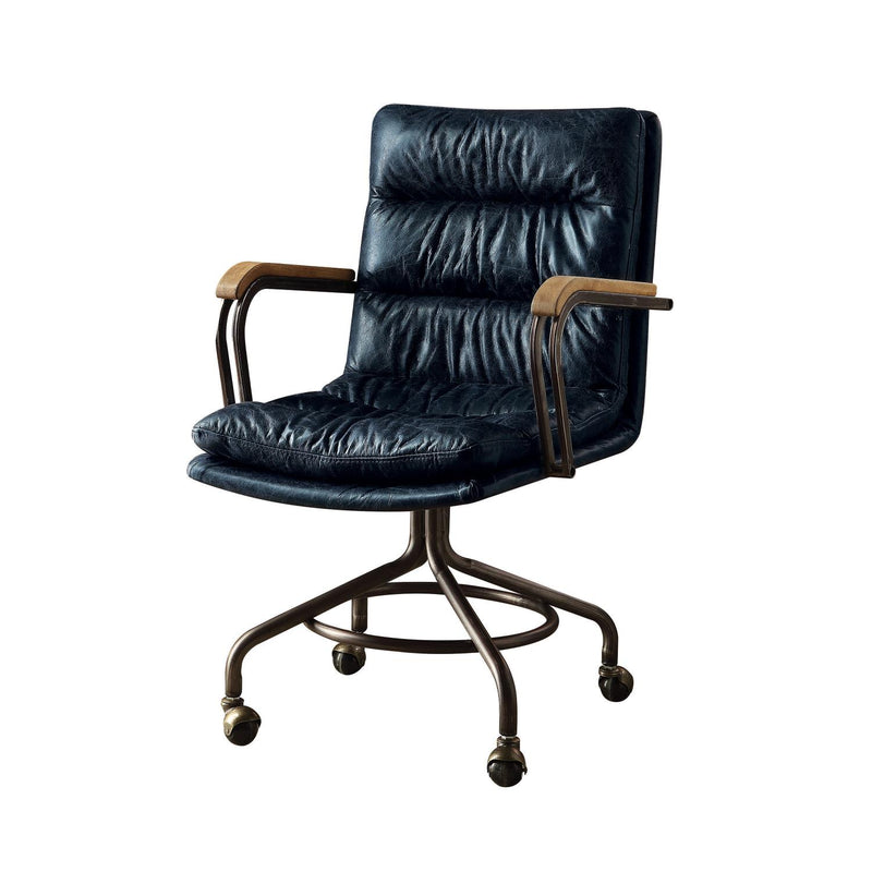 Buo Leather Executive Office Chair - Vintage Blue
