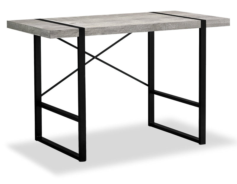 Lisgar Reclaimed Wood Look Desk - Grey
