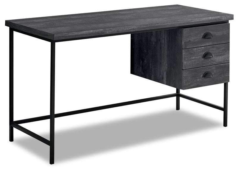 "Dysart 55"" Reclaimed Wood Look Desk - Black"
