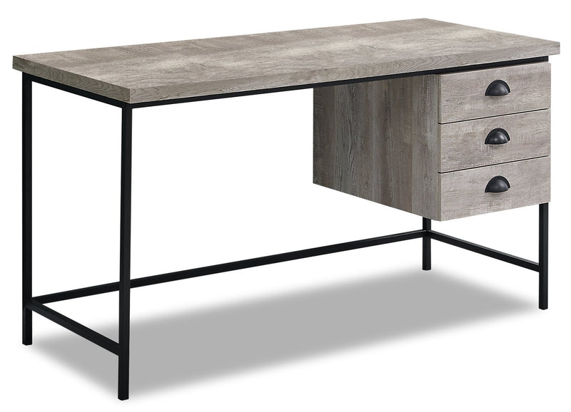 "Dysart 55"" Reclaimed Wood Look Desk - Taupe"