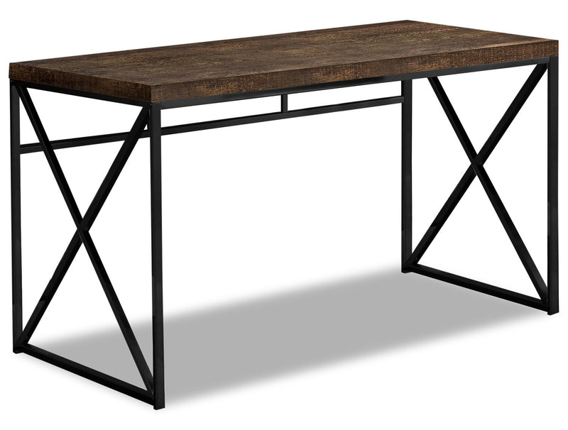 Latour Reclaimed Wood Look Desk - Brown