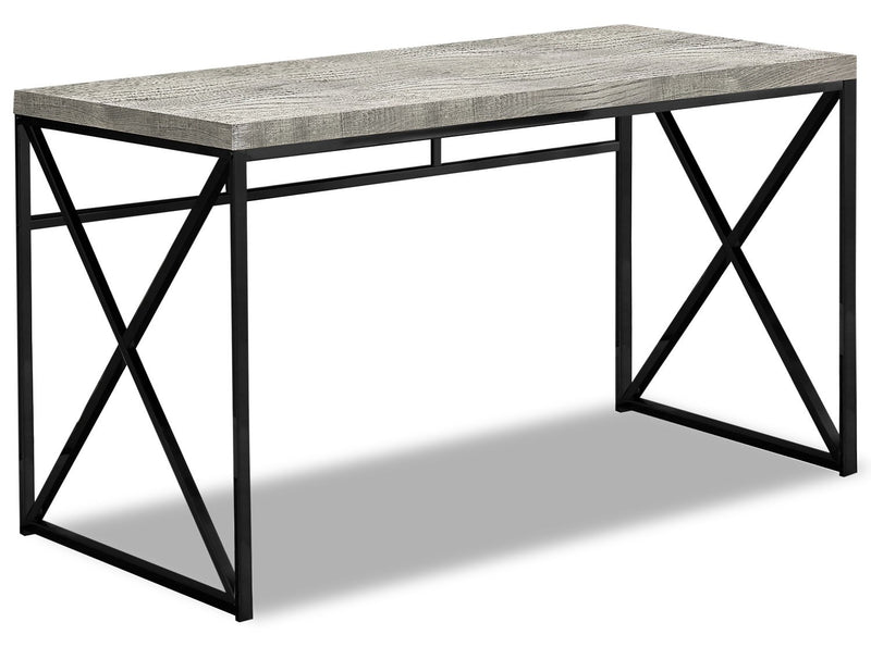 Latour Reclaimed Wood Look Desk - Grey