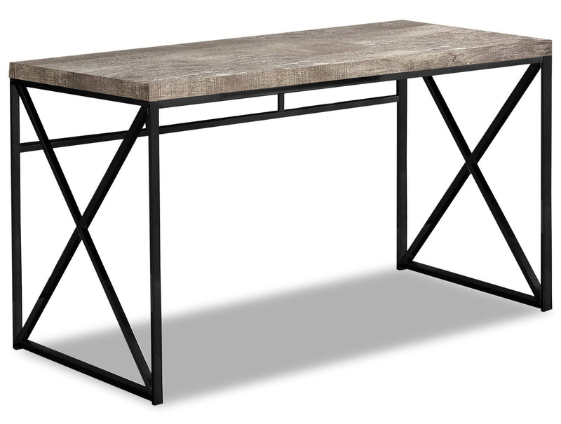 Latour Reclaimed Wood Look Desk - Taupe