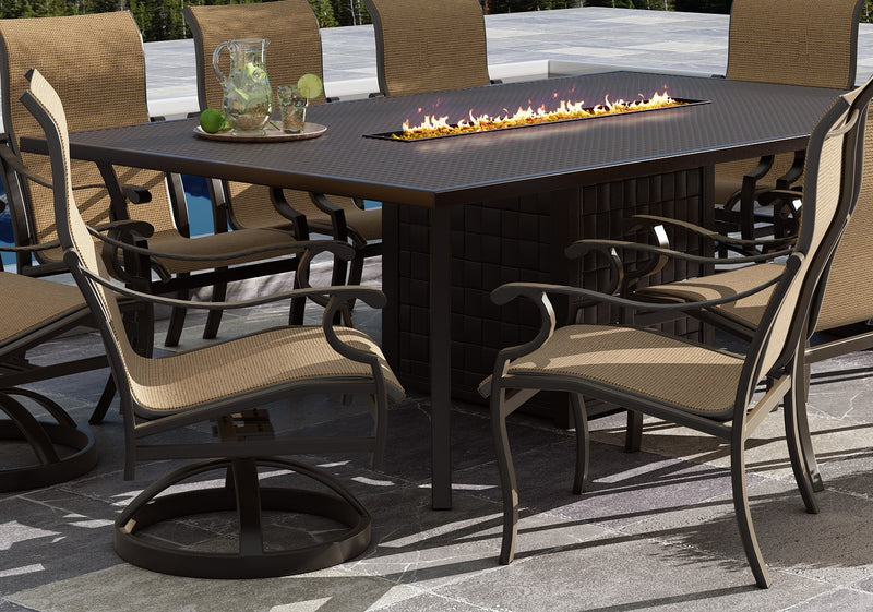 "Classical 108"" Firepit Dining Table"