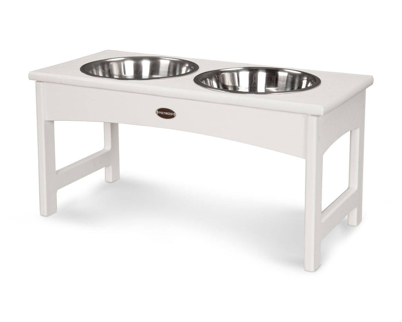 POLYWOOD® Woofs Pet Feeder - White