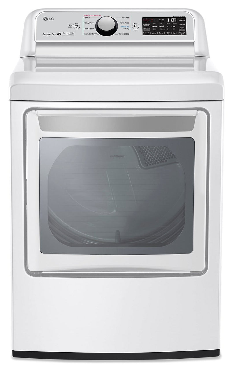 LG 7.3 Cu. Ft. Electric Dryer with TurboSteam - DLEX7250W