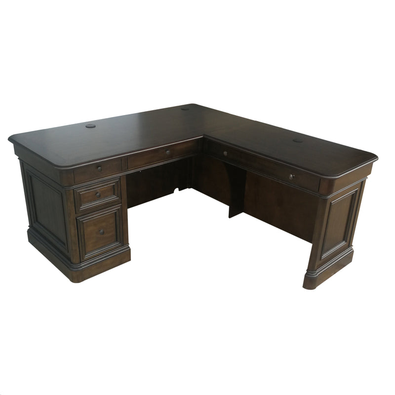 Shane Corner Desk - Tuscany Brown