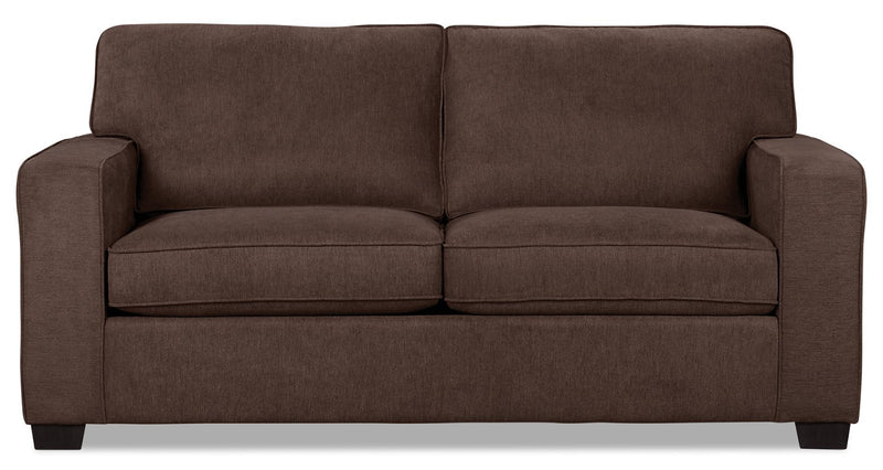 Bayhem Chenille Twin-Size Sofa Bed - Mocha