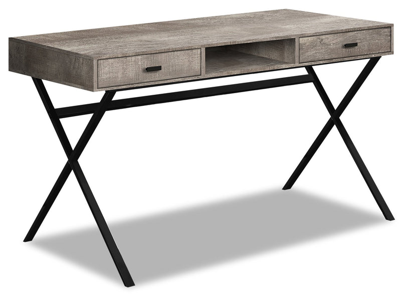 Apolydor Reclaimed Wood-Look Desk - Taupe