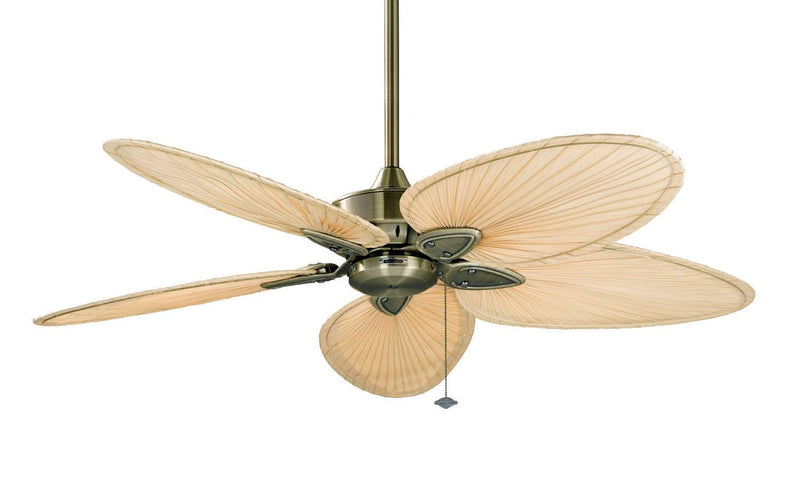 "Eton 52"" Ceiling Fan - Narrow Oval Natural Palm"