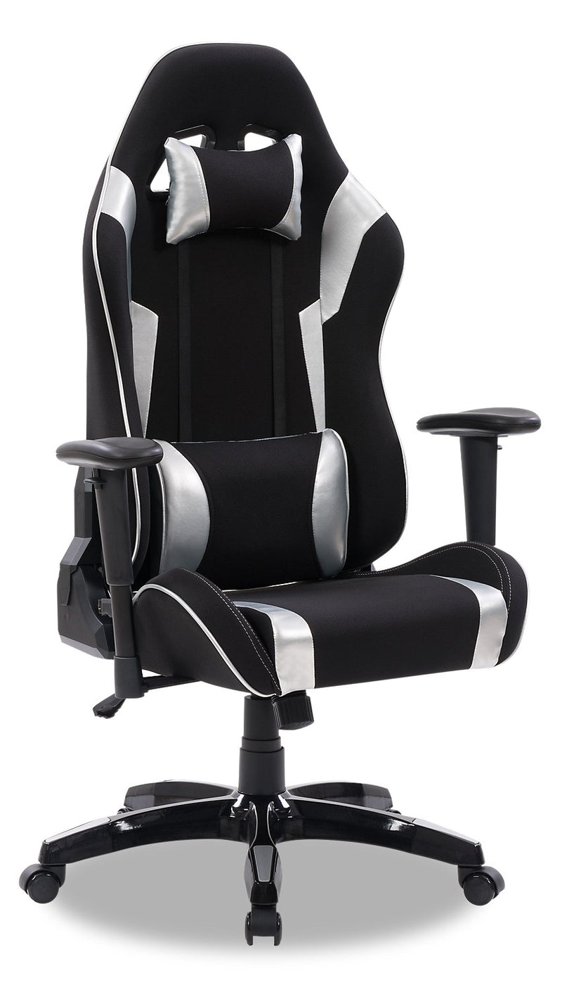 ABXY Gamer Chair - Black and Silver