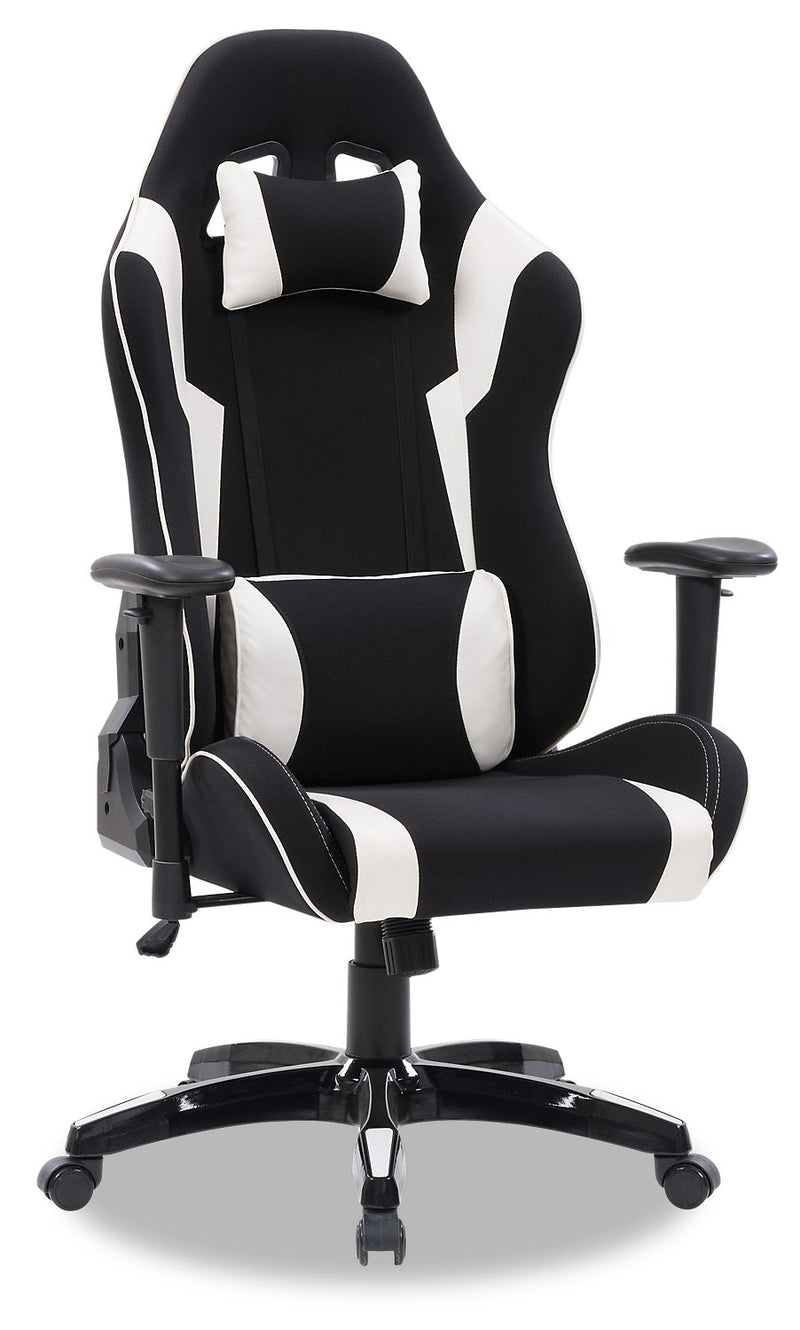 ABXY Gamer Chair - Black and White
