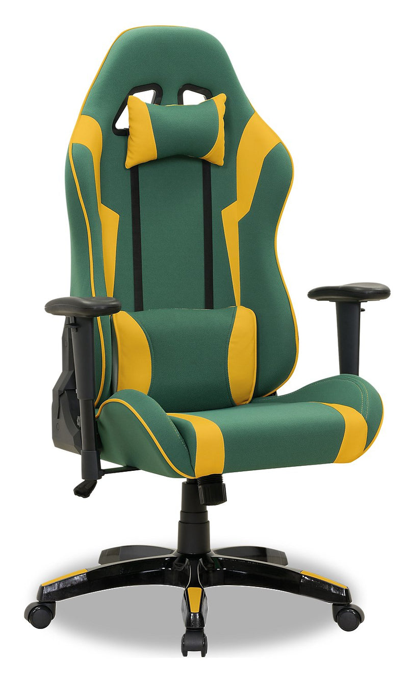 ABXY Gamer Chair - Green and Yellow