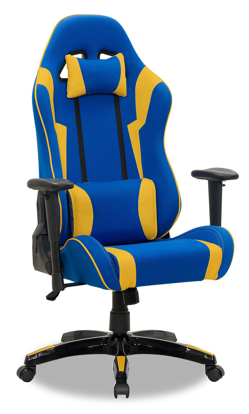 ABXY Gamer Chair - Navy and Yellow