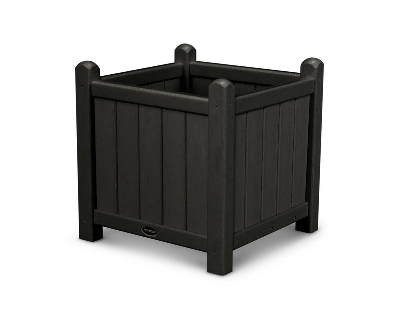 "POLYWOOD® Traditional Garden 16"" Planter in Black"