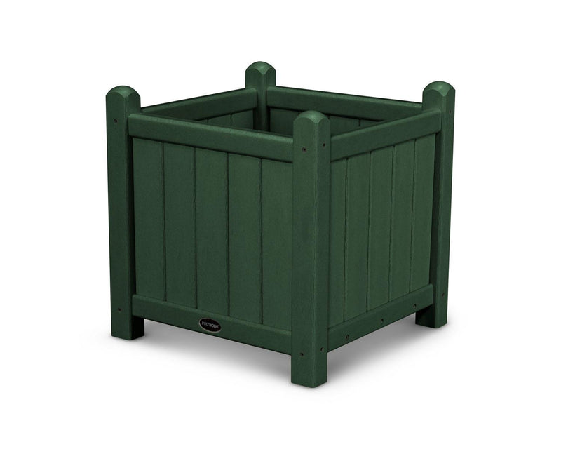 "POLYWOOD® Traditional Garden 16"" Planter in Green"