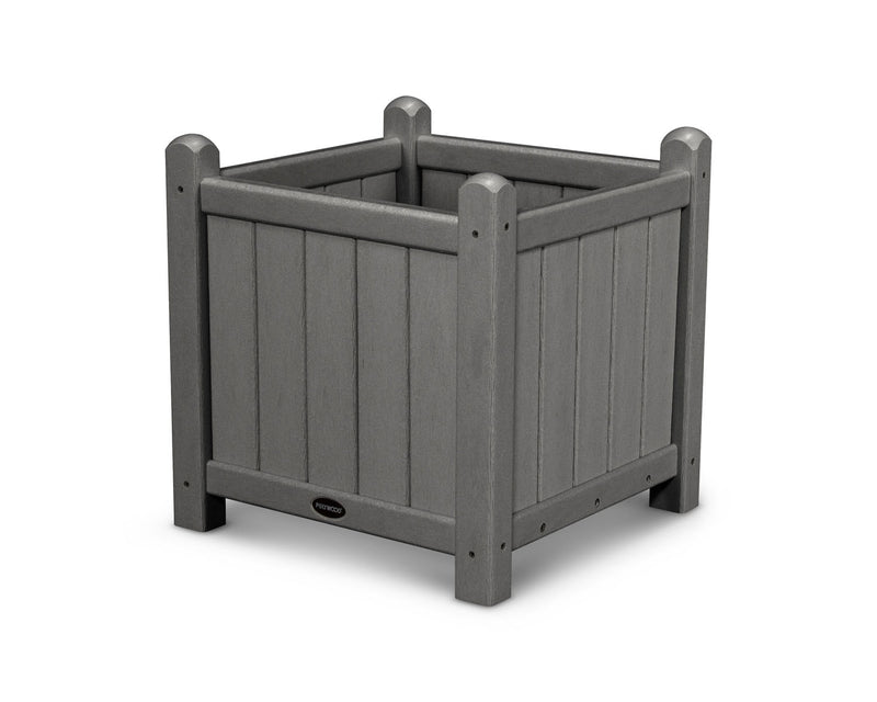 "POLYWOOD® Traditional Garden 16"" Planter in Slate Grey"