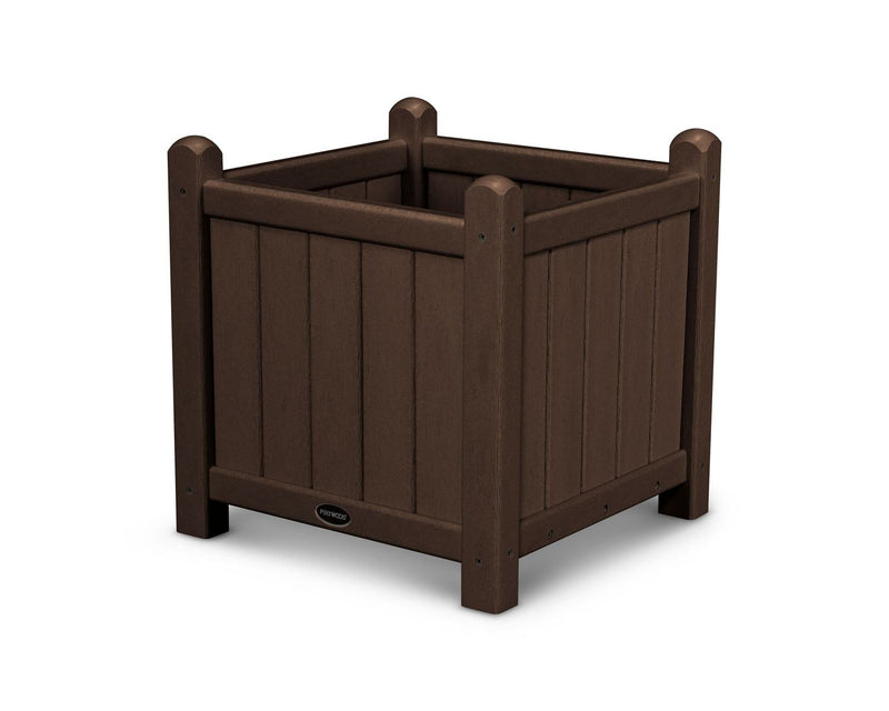 "POLYWOOD® Traditional Garden 16"" Planter in Mahogany"