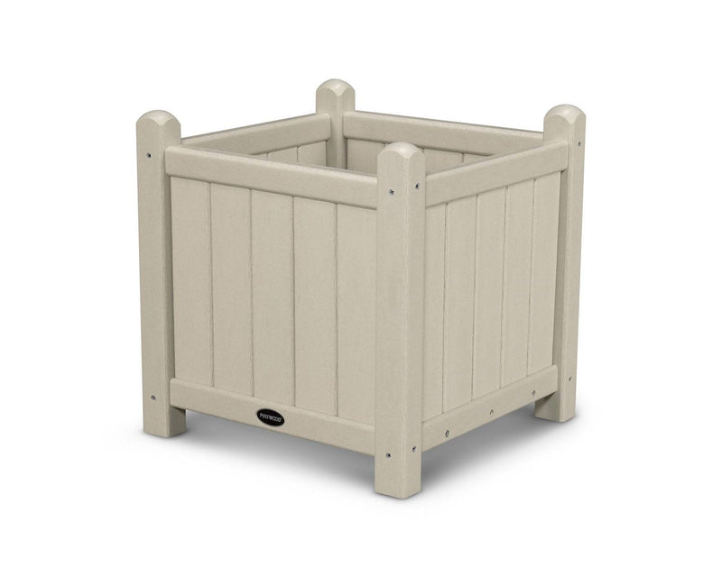 "POLYWOOD® Traditional Garden 16"" Planter in Sand"