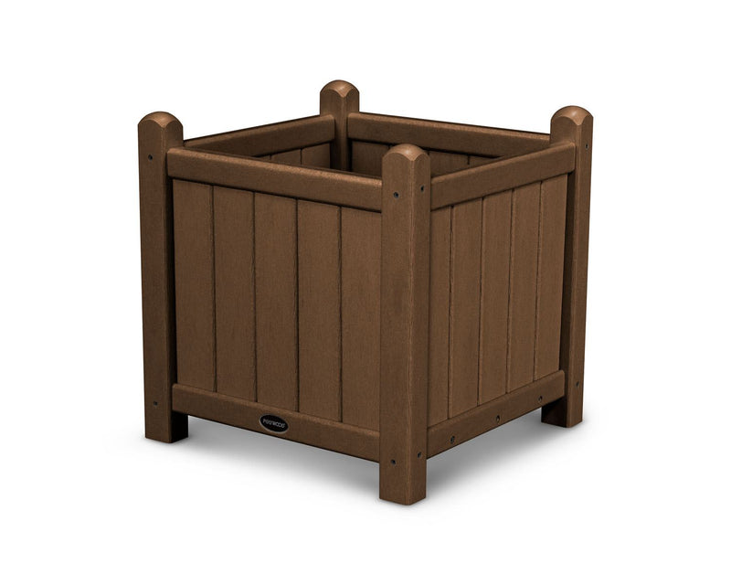 "POLYWOOD® Traditional Garden 16"" Planter in Teak"