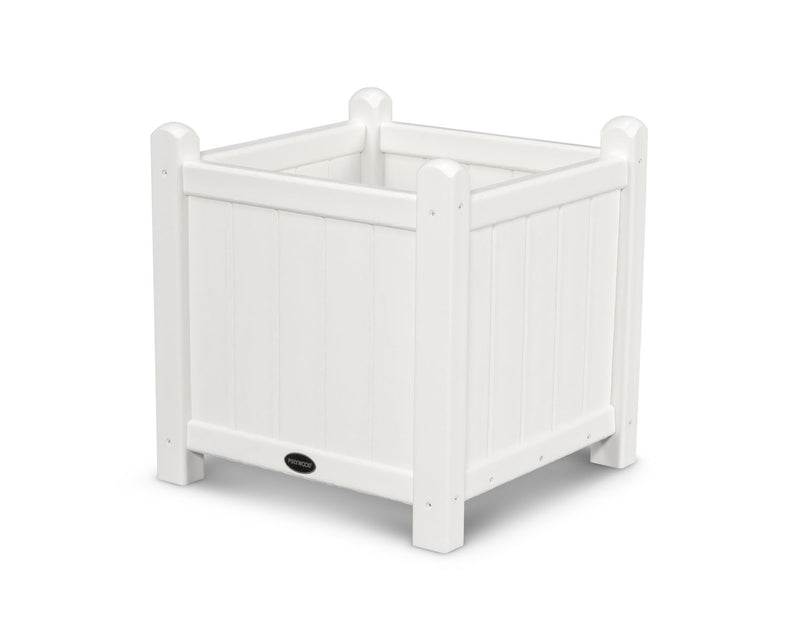 "POLYWOOD® Traditional Garden 16"" Planter in White"