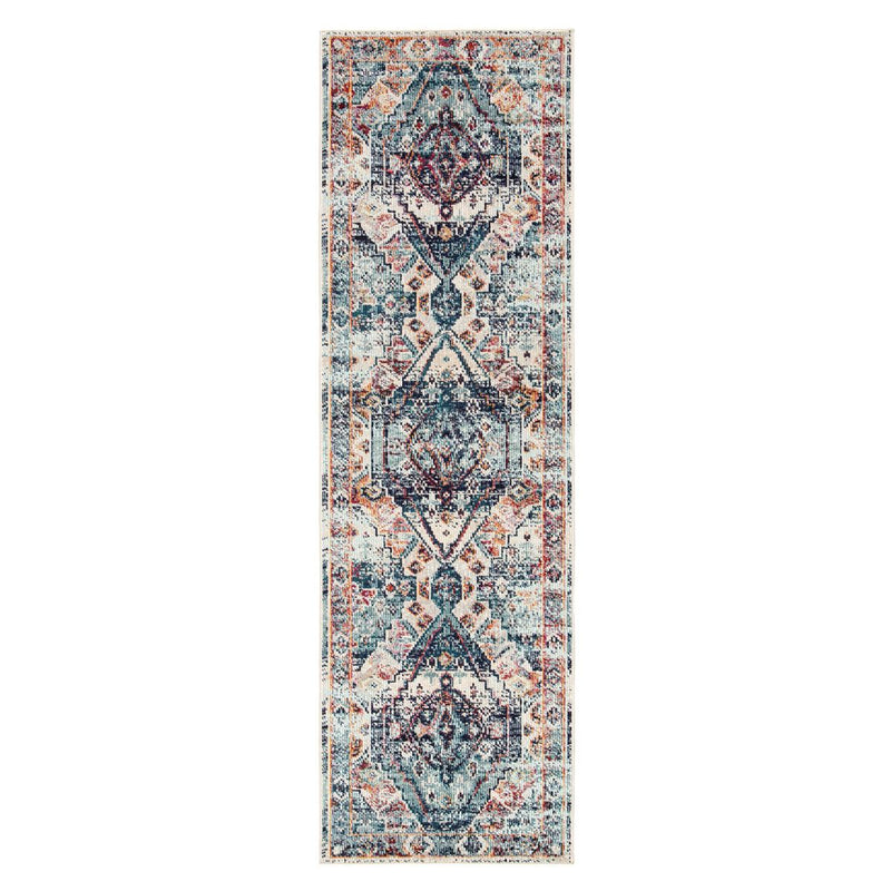 "Lelouda II Area Rug - 2'6"" X 8' Runner - Multi/Blue"
